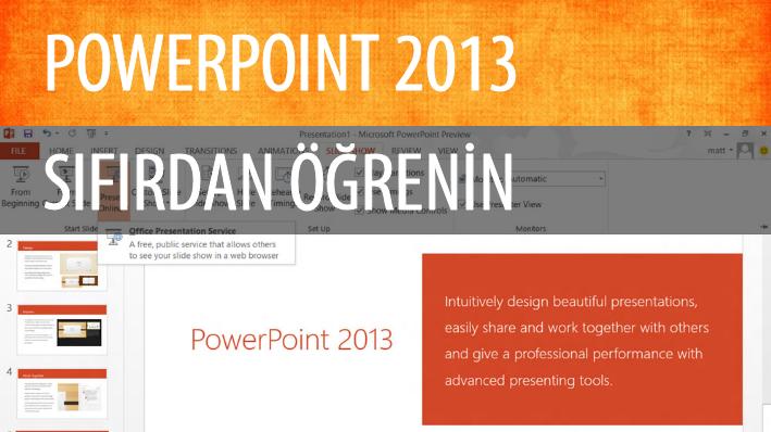 PowerPoint 2013 Sıfırdan Öğrenin